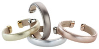 """Alraune Elle"" Bangle Stainless Steel/Leather one size"